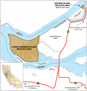 Map of Lower Sherman Island WA - click to enlarge in new window