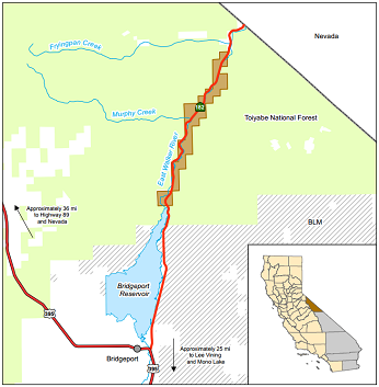 Map of East Walker River WA - click to enlarge in new window