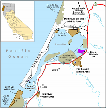 Map of Mad River Slough WA - click to enlarge in new window