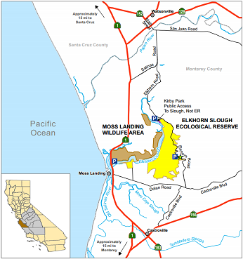 Map of Moss Landing WA - click to enlarge in new window