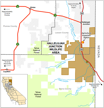 Map of Hallelujah Junction WA - click to enlarge in new window