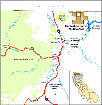 map of Horseshoe Ranch WA - click to enlarge in new window