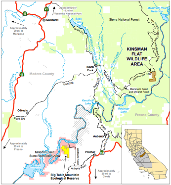 map of Kinsman Flat WA - click to enlarge in new window
