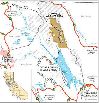 Lake Berryessa Fire Map.Knoxville Wildlife Area