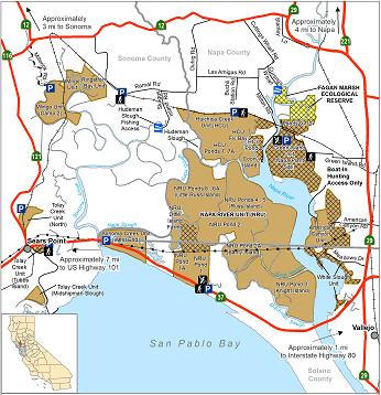 Map of Napa-Sonoma Marshes WA