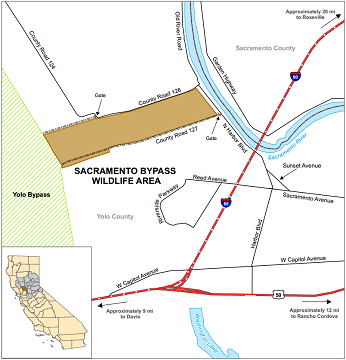 Map of Sacramento Bypass WA location - click to enlarge in new window