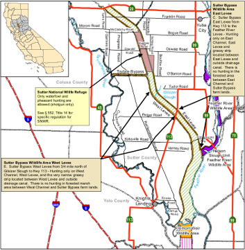 Map of Sutter Bypass WA location - click to enlarge in new window
