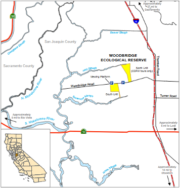 map of White Slough WA location - click to enlarge in new window