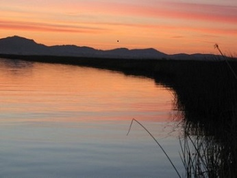Sunrise on Napa Slough and Napa River