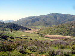 view of river valley at Rancho Jamul ER