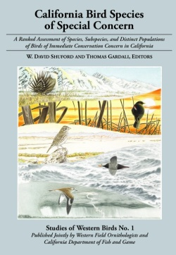 California Bird Species of Special Concern cover - click to enlarge image in new window