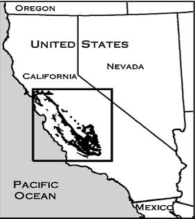San Joaquin Kit Fox Range Map