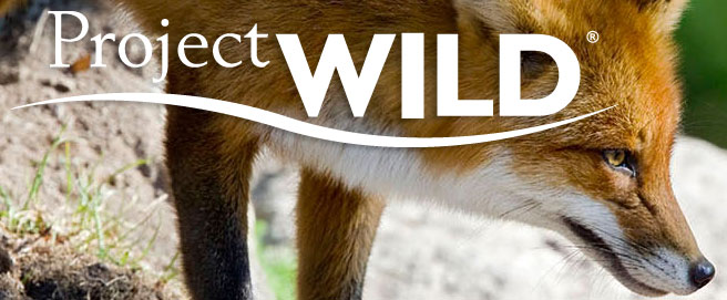Project WILD logo with fox background