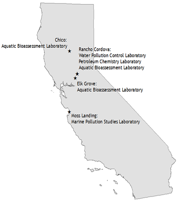 OSPR Laboratory Program Locations