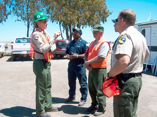 OSPR enforcement officers meeting on site