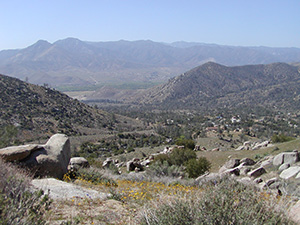 South Fork Kern River Valley from Canebrake Ecological Reserve