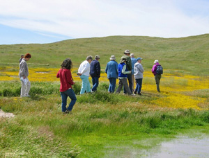 field trip participants on the Carrizo Plain National Monument, San Luis Obispo County