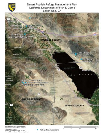 Large scale map of Salton Sea