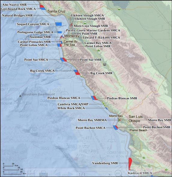 Overview Map of Central CA MPAs