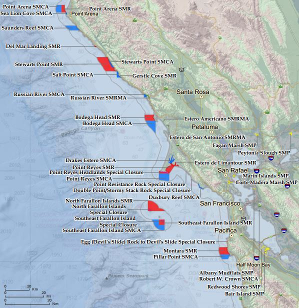 North Central California Marine Protected Areas on