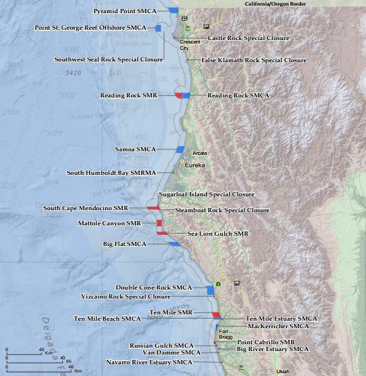 Overview Map of Norther CA MPAs - click to enlarge in new window
