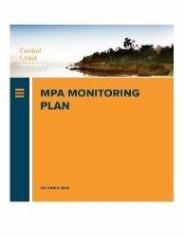 cover image of Central Coast MPA Monitoring Plan