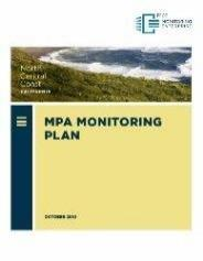 Cover of North Central Coast Monitoring Plan