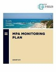 Cover of the South Coast MPA Monitoring Plan