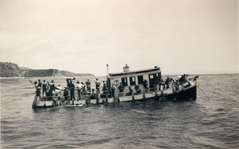 CPFV Ramona, Rocky Point, July 3, 1938, CDFW photo by R.S. Croker.