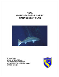 White Seabass Fishery Management Plan: Cover Page